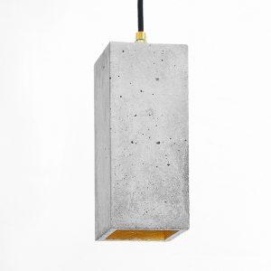 GANTlights B2_GANT lights B2 rechthoekige hanglamp van beton, lichtgrijs