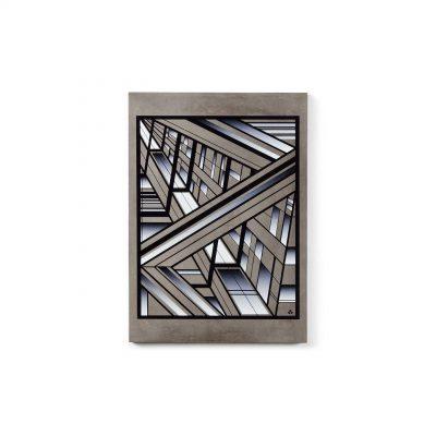 Urban Fragments Bamock Black Dimension Print op beton