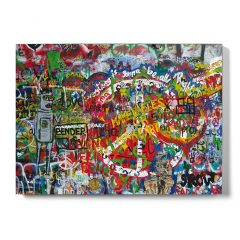 Urban Fragments - JOHN LENNON WALL 50x70cm - Sandy S.