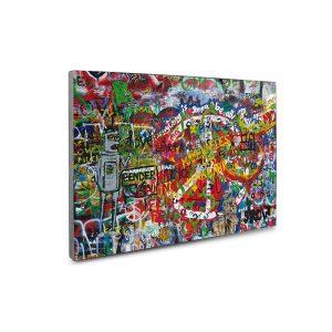 Urban Fragments - JOHN LENNON WALL 50x70cm - Sandy S.