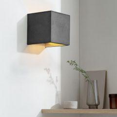 GANTlights B3 wandlamp van beton donkergrijs - goud