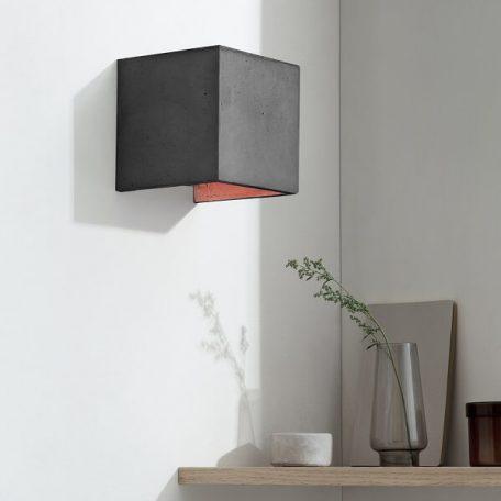 GANTlights B3 wandlamp van beton donkergrijs - koper