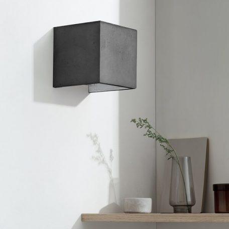 GANTlights B3 wandlamp van beton donkergrijs - zilver