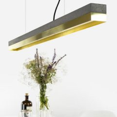 GANTlights GANT lights C1 hanglamp beton donkergrijs_messing