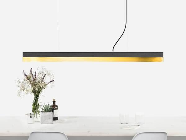 GANTlights C1 hanglamp van donkergrijs beton en messing