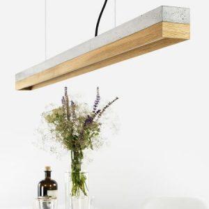 GANTlights GANT lights - C1 hanglamp van beton en eiken