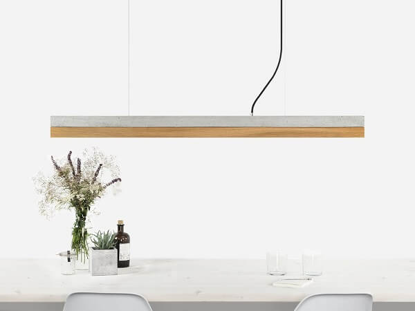 GANTlights GANT lights C1 hanglamp beton lichtgrijs_eiken