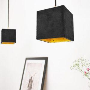GANTlights_GANT lights B1 vierkante hanglamp van beton, donkergrijs