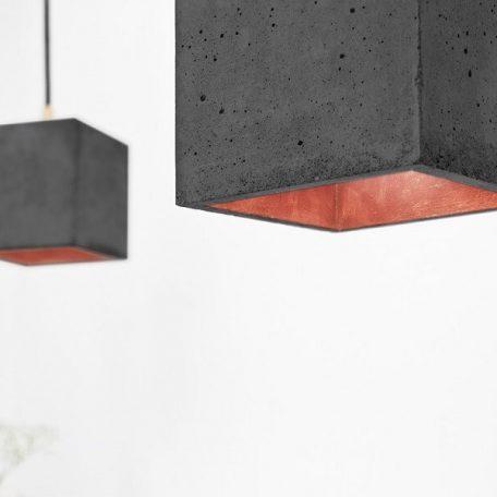 GANTlights GANT lights B1 hanglamp beton donkergrijs-KOPER
