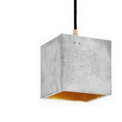 GANTlights_GANT lights B1 vierkante hanglamp van beton, lichtgrijs