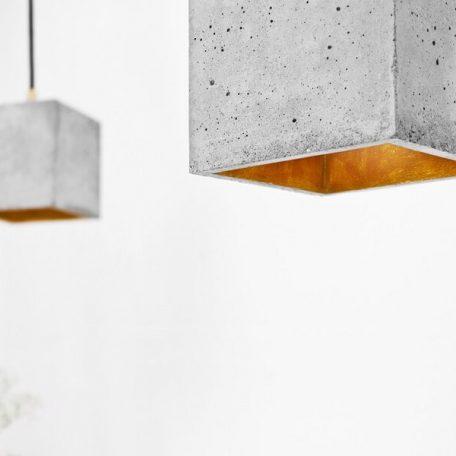 GANTlights GANT lights B1 hanglamp beton lichtgrijs_GOUD