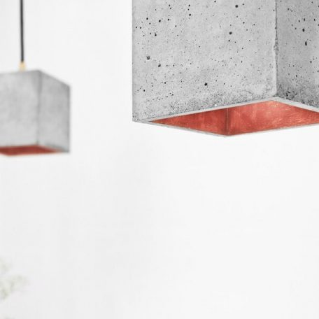 GANTlights GANT lights B1 hanglamp beton lichtgrijs_KOPER