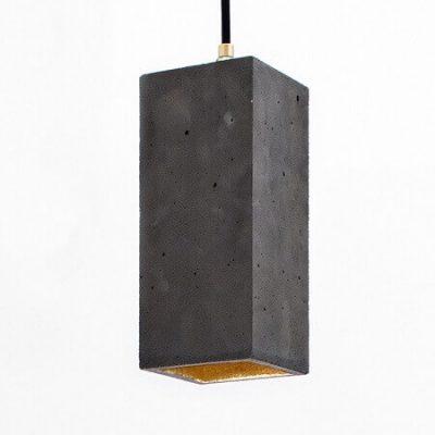GANTlights B2_GANT lights B2 rechthoekige hanglamp van beton, donkergrijs