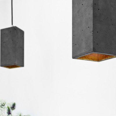 GANTlights GANT lights B2 hanglamp beton donker grijs_GOUD