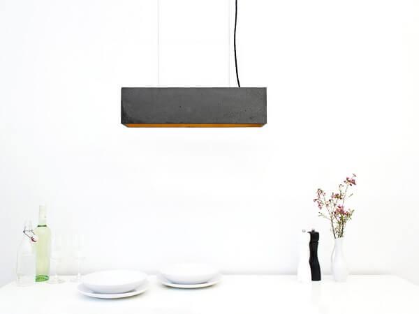 GANTlights B4 -GANT lights B4 - rechthoekige hanglamp van beton, donkergrijs
