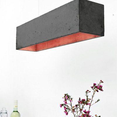 GANTlights GANT lights B4 hanglamp beton donkergrijs_KOPER