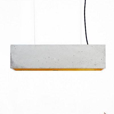GANTlights B4 -GANT lights B4 - rechthoekige hanglamp van beton, lichtgrijs