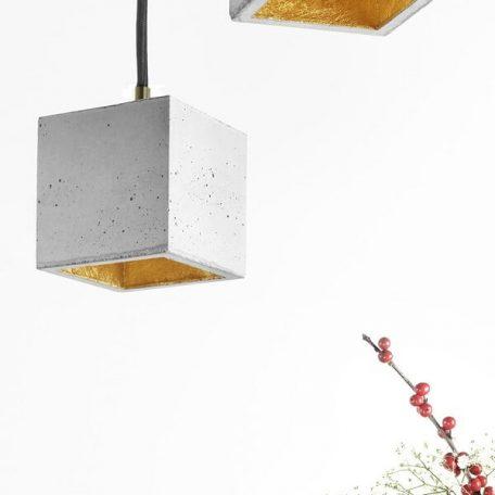 GANTlights GANT lights B6 hanglamp beton lichtgrijs-GOUD