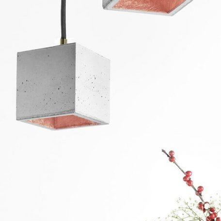 GANTlights GANT lights B6 hanglamp beton lichtgrijs-KOPER