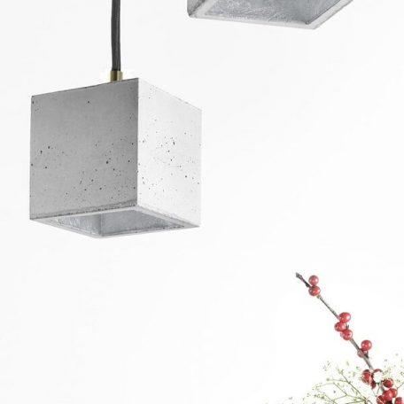 GANTlights GANT lights B6 hanglamp beton lichtgrijs-ZILVER