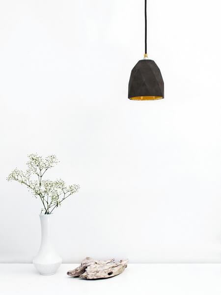GANTlights T1- GANT lights T1 hanglamp van beton, donkergrijs