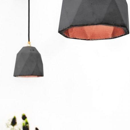 GANTlights T1 Hanglamp Beton donkergrijs - KOPER