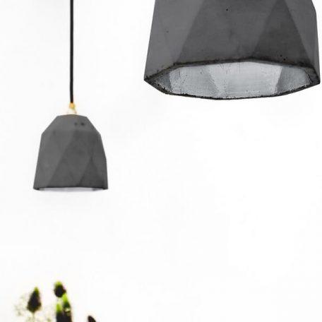 GANTlights T1 Hanglamp Beton donkergrijs - ZILVER