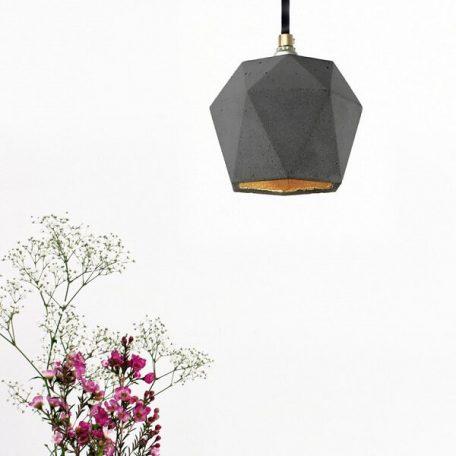 GANTlights T2 Hanglamp Beton donkergrijs_GOUD
