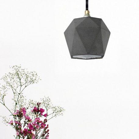 GANTlights T2 Hanglamp Beton donkergrijs_ZILVER