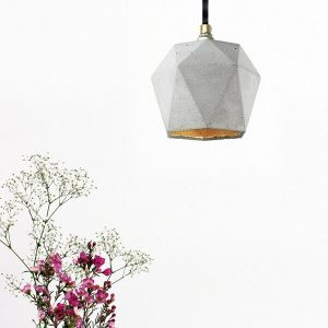 GANTlights T2 Hanglamp Beton lichtgrijs_GOUD