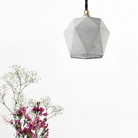 GANTlights T2 Hanglamp Beton lichtgrijs_ZILVER