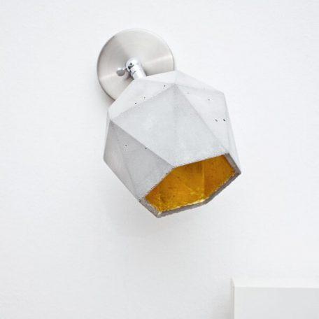 GANTlights T2 SPOT - wandlamp van beton_GOUD
