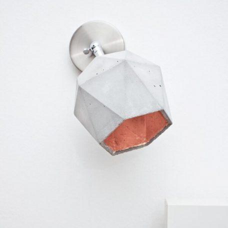 GANTlights T2 SPOT - wandlamp van beton_KOPER