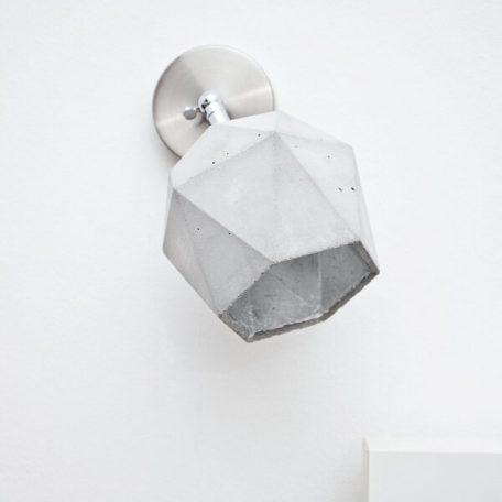 GANTlights T2 SPOT - wandlamp van beton_ZILVEr