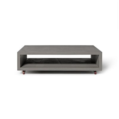 Lyon Beton MONOBLOC – rechthoekige betonnen salontafel, op wielen (1)