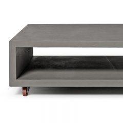 Lyon Beton MONOBLOC – rechthoekige betonnen salontafel, op wielen (4)