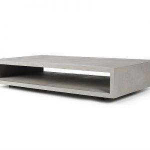 Lyon Beton - Monobloc XL - rechthoekige salontafel van beton