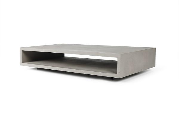 Salontafel Van Beton : Coolliving lyon beton monobloc xl rechthoekige salontafel