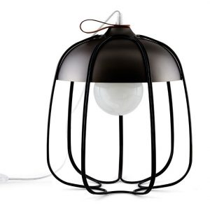 INCIPIT TULL vloerlamp bureaulamp - zwart nikkel/zwart