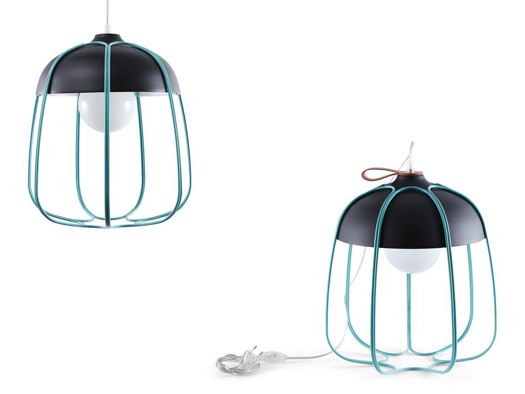 INCIPIT TULL pendant lamp hanglamp anthracite turquoise antraciet