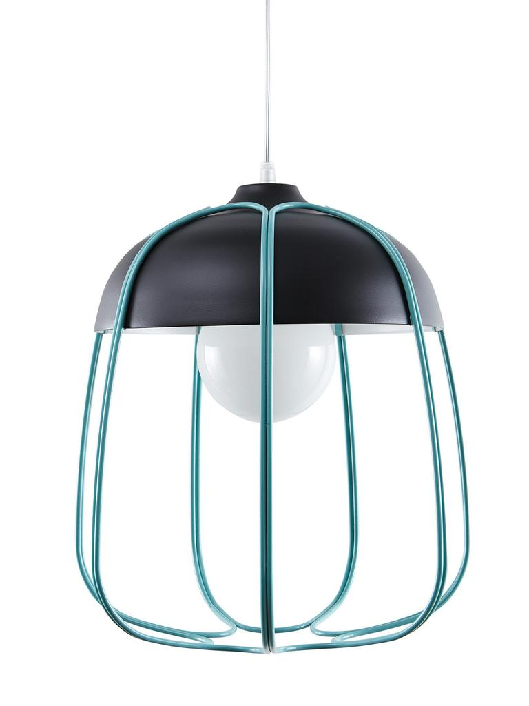 Turquoise Hanglamp Perfect Hanglamp Moonlight I Zwart