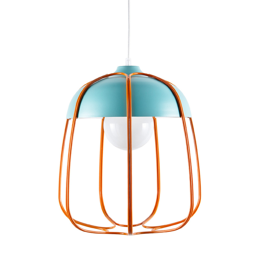 INCIPIT TULL lamp turquoise-orange pendant hanglamp