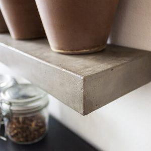LYON BETON SLICED S - wandplank van beton, boekenplank