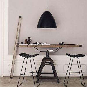 GUBI Bestlite BL9XL - metalen hanglamp van 60cm - ZWART (2)