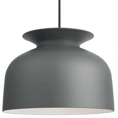 GUBI RONDE - grote hanglamp rond, klokvormig Ø40cm - Grijs