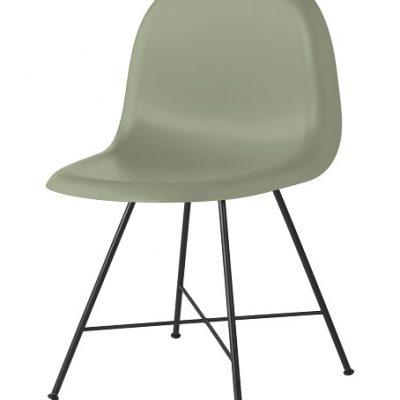 Gubi 1F - 3D eetkamerstoel_Hirek_Mistletoe Green (Groen)