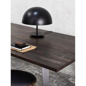 MATER Design DOME - Zwarte tafellamp van aluminium met ronde kap - d40cm
