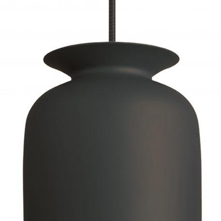 GUBI RONDE - hanglamp rond, langwerpig (Ø20cm) - antraciet
