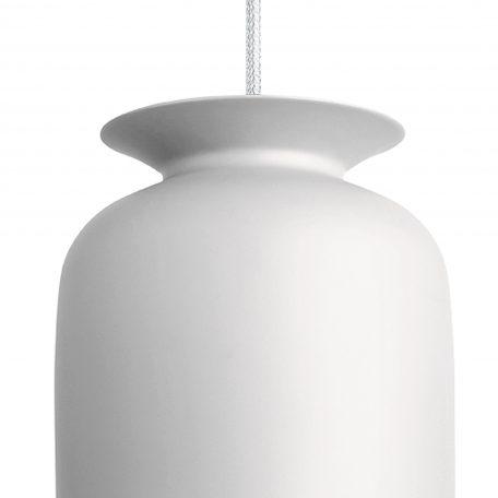 GUBI RONDE - hanglamp rond, langwerpig (Ø20cm) - wit matwit