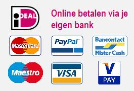 iDeal MasterCard Visa Maestro Bancontact VPay PayPal